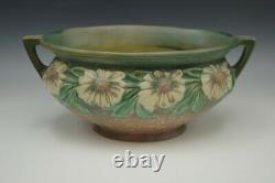 Roseville Pottery 1928 Arts And Crafts Dahlrose Jardiniere Bowl Oval Handled