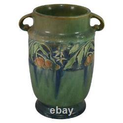 Roseville Pottery Baneda Green Arts And Crafts Handled Vase 592-7