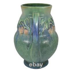 Roseville Pottery Baneda Green Handled Arts And Crafts Vase 596-9
