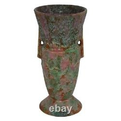 Roseville Pottery Carnelian II Red Arts And Crafts Handled Futura Vase 439-9