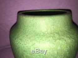 Roseville Pottery Early Carnelian Vase Arts & Crafts Mottled Green 6 Pristine