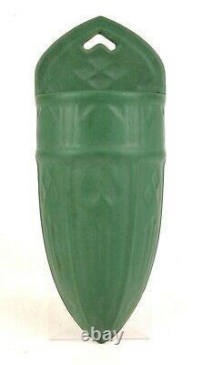 Roseville Pottery Matt Green Wall Pocket Shape 1204-12 Arts And Crafts