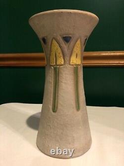 Roseville Pottery Mostique Arts & Crafts Set of Vases Mission Arrow Tulip 1916