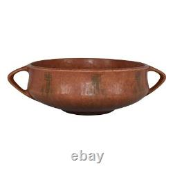 Roseville Pottery Windsor Brown Arts and Crafts Round Handle Bowl