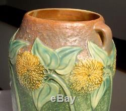 Roseville Sunflower 10 Handled Vase Arts & Crafts Mission