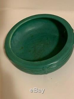 Roseville Weller Vase Bowl Green Matt Arts & Crafts Pottery Peter and Reed