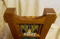 SCHLABAUGH & SONS MOTAWI TILE Arts & Crafts Oak Clock Three 4x4 LOTUS Tiles NWT
