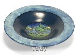 SEG PRP Saturday Evening Girls pottery large bowl house landscape arts & crafts
