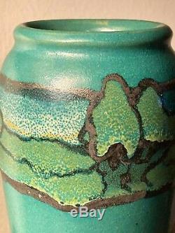 SEG Paul Revere arts and crafts era vase with stylized landscape. Ending 9/28
