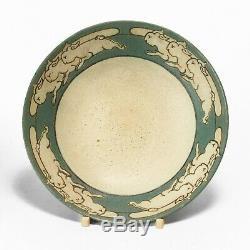SEG Saturday Evening Girls Paul Revere Pottery 1911 rabbit bowl Arts & Crafts
