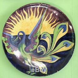 Scottish Pottery Arts & Crafts Charger-Jessie Maxton, Glasgow Soc Lady Artists