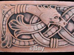 Snake Celtic Infinity Garden Plaque Arts & Crafts Gothic Ellison Tile