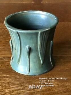 Studio Pottery Collection Of 6 Arts & Crafts Grueby Style Matte Green Vases