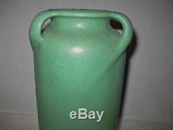 Teco 10.25 Arts & Crafts 3 Handle Vase In Matte Green
