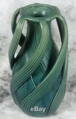 Teco Arts & Craft Pottery Fritz Albert Design Swirling Leaves Reproduction Vase