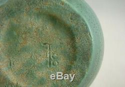 Teco Pottery Arts & Crafts Prairie School Matte Green Vase Strong Charcoaling