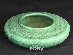 Teco Pottery Matte Green Arts & Crafts Bowl #136 Fritz Albert Design Antique