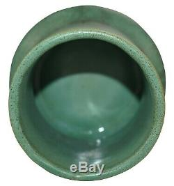 Teco Pottery Organic Matte Green Ribbed Arts and Crafts Vase Shape 363