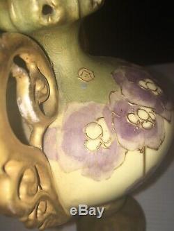Turn-teplitz-bohemia Fabulous Austria Vase Arts & Crafts