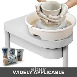 US 350W 25CM Electric Pottery Wheel Ceramic Machine Work Clay Art Craft DIY 110V