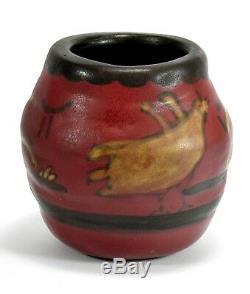 University of North Dakota School Mines 5 bentonite bird vase arts & crafts UND