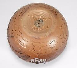 University of North Dakota School Mines spherical ship vase arts & crafts UND