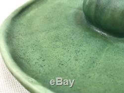 VTG 1906 Rookwood Lily Pad Matte Green Candle Holder 1067 Arts Crafts Pottery