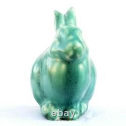 VTG 1965 Rookwood Pottery Matte Green Grove Bunny Rabbit Arts Crafts 6160 Easter