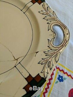 VTG Buffalo China Roycroft 10 Platter Arts and Crafts Hand Painted Dard Hunter