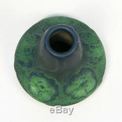 Van Briggle Pottery 1902 vase shape 105 Arts & Crafts matte green blue bi color