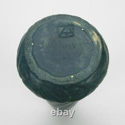 Van Briggle Pottery 1904 vase 12 shape 166 Arts & Crafts matte blue green