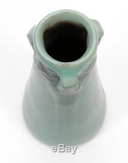 Van Briggle Pottery 1905 vase shape 245 Arts & Crafts matte bi color red clay