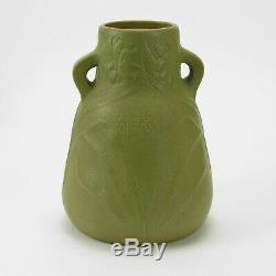 Van Briggle Pottery 1905 vase shape 49 Arts & Crafts matte green olive