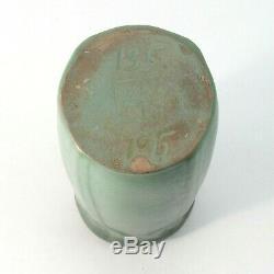 Van Briggle Pottery 1915 vase shape 135 Arts & Crafts matte blue green vase
