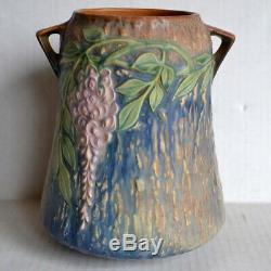 Vintage 1933 ROSEVILLE WISTERIA Art Pottery 633-8 VASE Nouveau / Arts & Crafts
