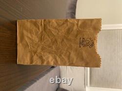 Vintage 1970s Michael Harvey Craft crinkled bag ceramic vase #2