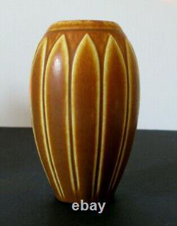Vintage Antique Arts Crafts Matte Brown Rookwood Vase 1930