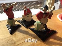 Vintage Art Deco E O D Pottery Jazz Trio Bizarre Arts & Crafts Style