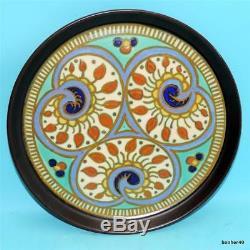 Vintage Art-crafts Gouda Zuid-holland Dutch Folk Art Deco Platter Tray Plate
