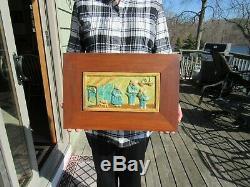 Vintage Arts And Crafts Pewabic Tile Three Bears Detroit Mich Ext Rare Mint Con