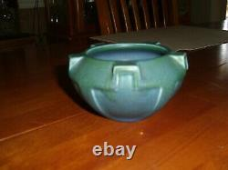 Vintage Arts And Crafts Rookwood Pottery Dark Blue Round Buttress Bowl 1917