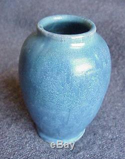 Vintage Arts & Crafts Vintage Upchurch Matte Blue Cabinet Vase