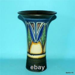 Vintage Arts-crafts Gouda Zuid-holland Dutch Folk Art Art Deco Damascus Vase