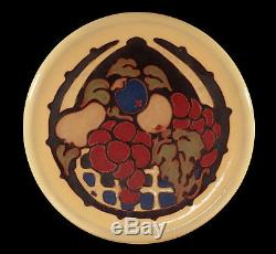 Vintage California Faience Cuenca Arts & Crafts Pottery Tile Trivet Fruit Basket
