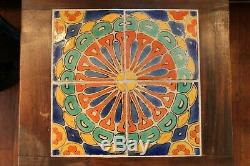 Vintage California Tile Table Pottery Walnut Catalina Taylor Arts & Crafts