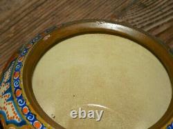 Vintage Hand Painted Arts & Crafts Gouda Art Pottery Vase