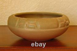 Vintage Rookwood Pottery Arts & Crafts Cabinet Bowl XXI 1921 #2132 Dusty Rose