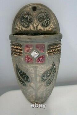 Vintage Roseville Arts & Crafts Pottery Mostique Wall Socket