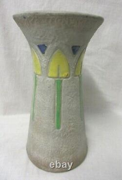 Vintage Roseville Pottery Arts And Crafts Mostique Vase 164-12