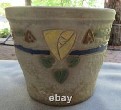 Vintage Roseville Pottery Arts & Crafts Mostique Macintosh Rose Jardiniere
